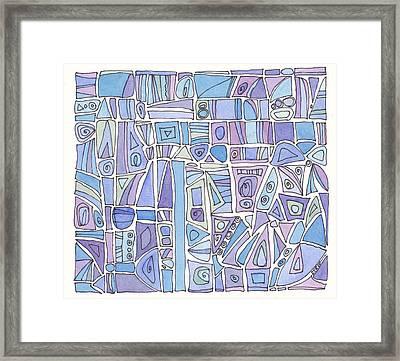 Chasing The Blues Framed Print by Linda Kay Thomas