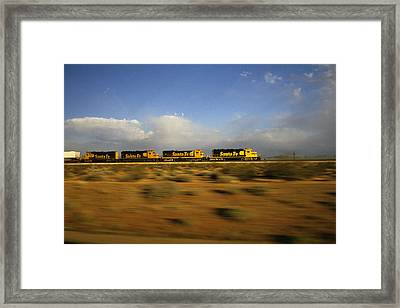 Chasing The Desert Wind Framed Print by Susan  Benson
