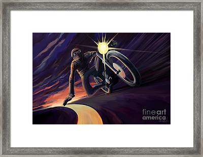 Chasing The Line Speed Racer Framed Print by Sassan Filsoof