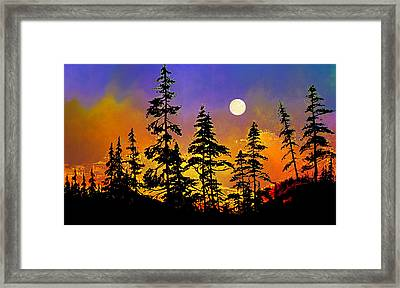 Chasing The Moon Framed Print