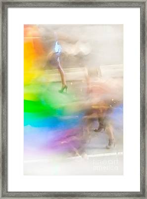 Chasing The Rainbow Framed Print by Az Jackson