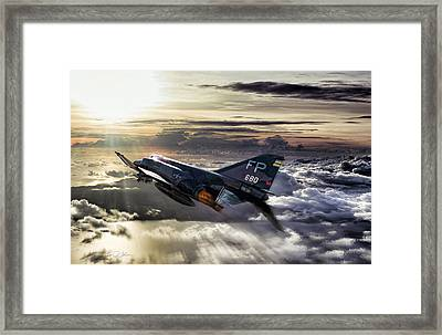 Chasing The Sun Robin Olds Framed Print by Peter Chilelli