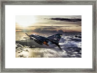 Chasing The Sun Robin Olds Framed Print