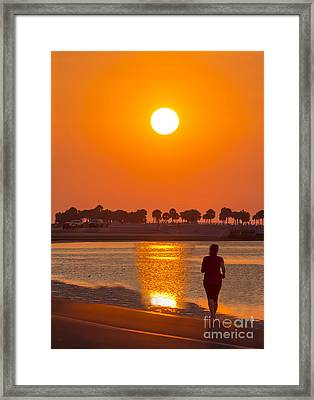 Chasing The Sunset Framed Print
