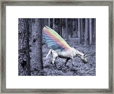 Chasing The Unicorn Framed Print