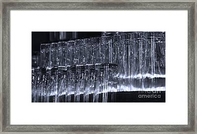 Chasing Waterfalls - Blue Framed Print