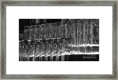 Chasing Waterfalls - Bw Framed Print
