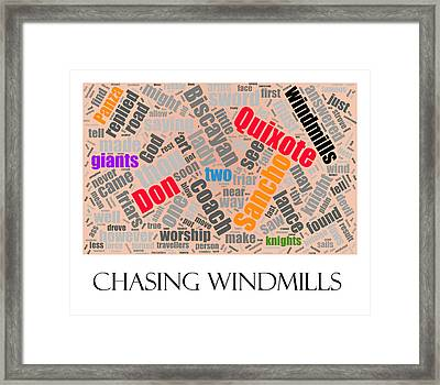 Chasing Windmills Framed Print by Richard Reeve