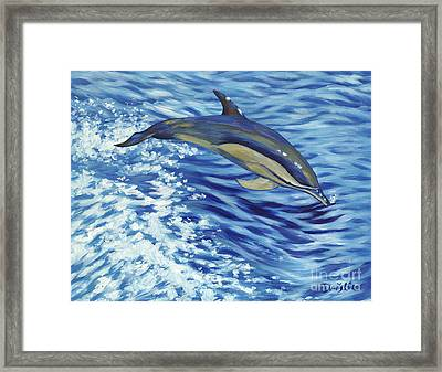 Chasing You Framed Print by Danielle  Perry