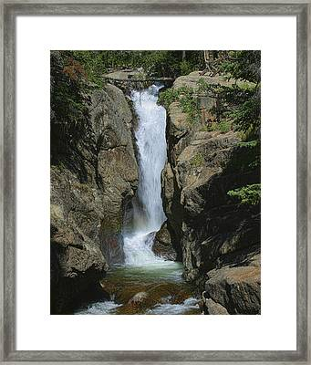Chasm Falls Off Old Fall River Road Framed Print