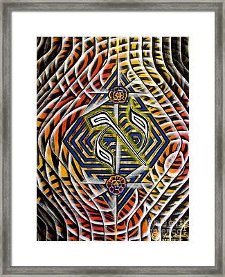 Chasmal The Speaking Silence Framed Print by Luke Galutia