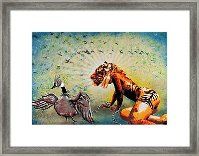 Chastity Chain Governed By A Deranged Dominion Framed Print by Tai Taeoalii