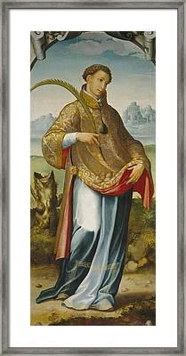 chasuble on Saint Ildefonso Framed Print by San Esteban