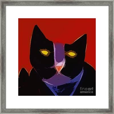 Chat Noir Framed Print by Lutz Baar