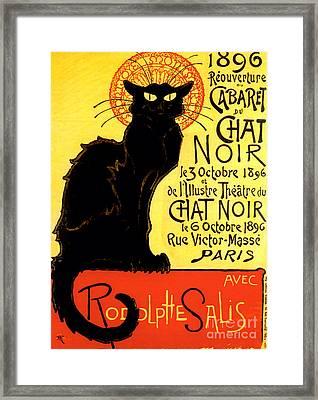 Chat Noir Vintage Framed Print by Mindy Sommers