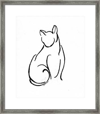 Chat Un Framed Print by Caprice Scott