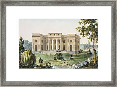 Chateau At Vinderhaute Framed Print by Pierre Jacques Goetghebuer