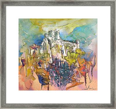 Chateau Cathare De Puylaurens 01 - France Framed Print by Miki De Goodaboom
