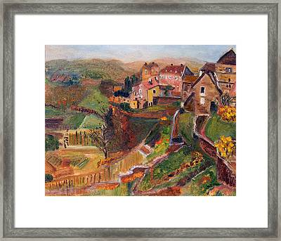 Chateau Chalon Framed Print