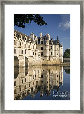 Chateau Chenonceau Morning Framed Print