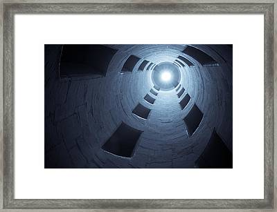Chateau De Chambord Double Staircase Framed Print by Sebastian Musial