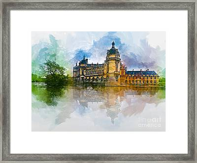 Chateau De Chantilly Framed Print