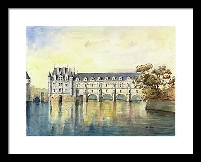 Chateau Chenonceau Framed Prints