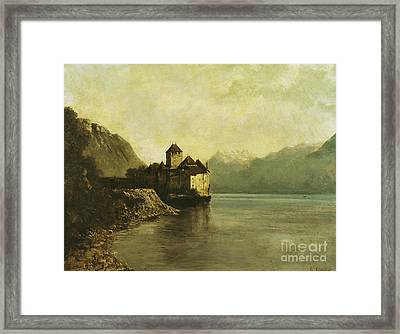 Chateau De Chillon Framed Print by Gustave Courbet