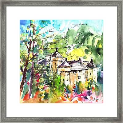 Chateau De La Caze Framed Print by Miki De Goodaboom