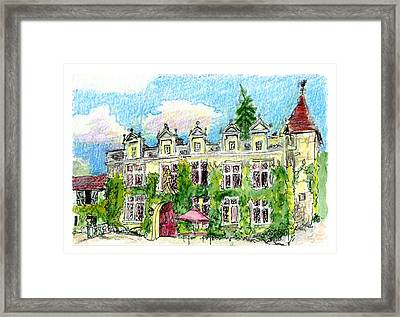 Framed Print featuring the painting Chateau De Maumont by Tilly Strauss