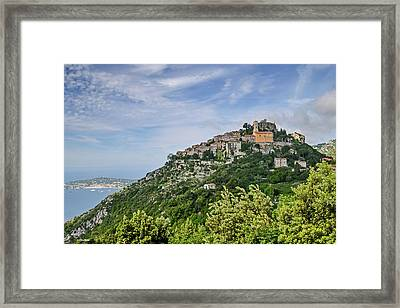Chateau D'eze On The Road To Monaco Framed Print by Allen Sheffield