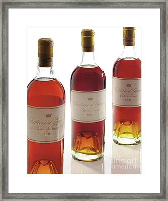 Chateau D'yquem, Vintage 1921, Sauternes Framed Print by French School