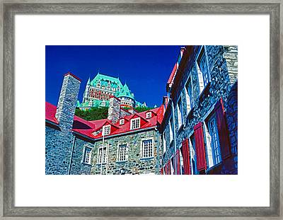 Chateau Frontenac Framed Print by Dennis Cox