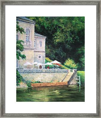 Chateau On The Lot River Framed Print by Jill Musser