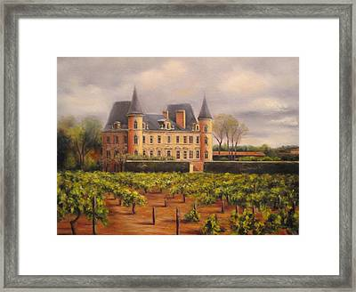 Chateau Pichon In Medoc Framed Print