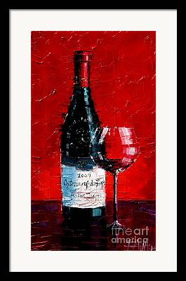 Wine Reflection Art Framed Prints