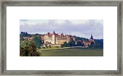 Chateauneuf En Auxois France Framed Print by Marilyn Dunlap