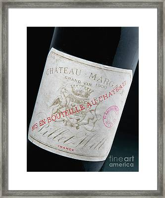 Chateaux Margaux, Vintage 1900 Framed Print by French School