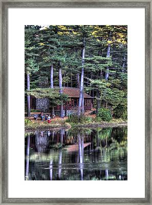 Chatfield Hollow Cabin Framed Print by Sam Turgeon