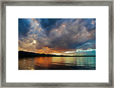 Chatfield Technicolor Sunset Framed Print