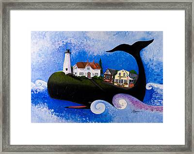 Chatham - A Whale Of A Town Framed Print by Theresa LaBrecque