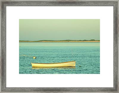 Chatham Boat At Sunset Framed Print by Kevin Bennett