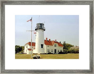 Framed Print featuring the photograph Chatham Lighthouse by Frederic Kohli