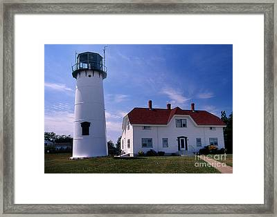 Chatham Lighthouse Ma Framed Print by Skip Willits