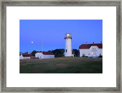 Chatham Lighthouse Moonset Framed Print