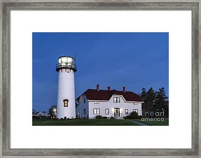 Chatham Lighthouse Night Framed Print