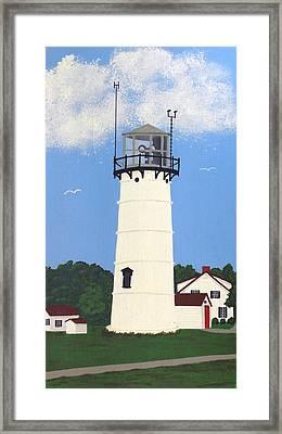 Chatham Lighthouse Tower Framed Print by Frederic Kohli