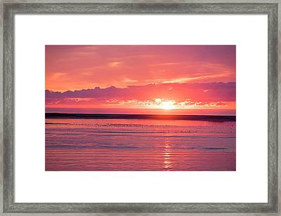 Chatham Ma Cape Cod Sunrise Framed Print by Toby McGuire