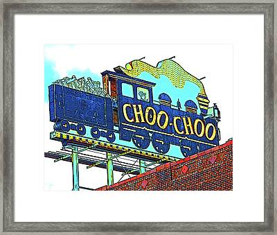 Chattanooga Choo Choo Sign On A Sunny Day Framed Print by Marian Bell