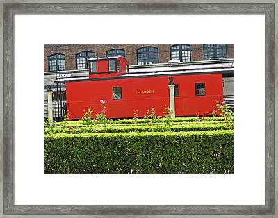 Chattanooga Choo Choo - The Caboose Framed Print by Marian Bell